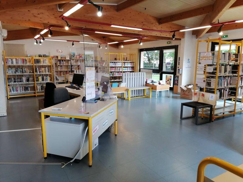 Vue de la bibliothèque à l'issue du chantier